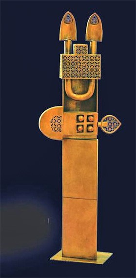 Poet and Cage Bronze by Parviz Tanavoli