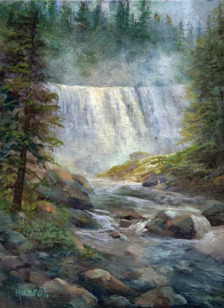 By: Gita Hazrati Title: Middle Falls on McCloud-River