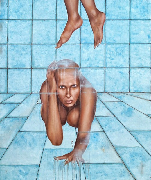 Nikoo Tarkhani From the series This is not a woman, oil on canvas, 120cm x 100cm, 2008
