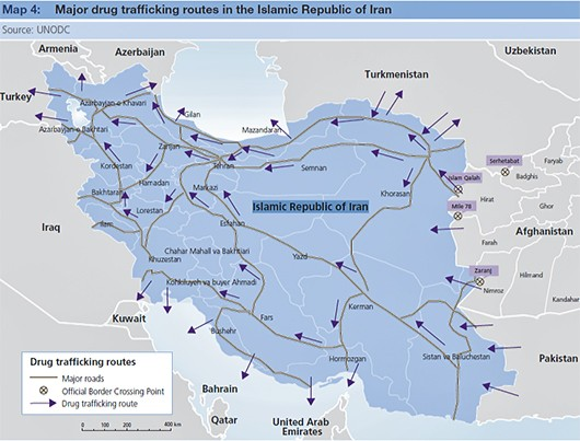 drug-trafficking-map-iran