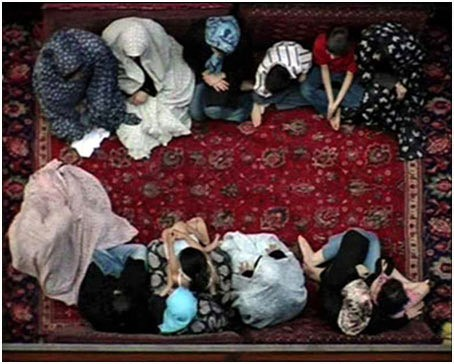 Carpet to Celestial Heavens -  Director:  Hamieh Razavi, Iran, 2008, 3 minutes, Camera & Editing: Bahman Kiarostami