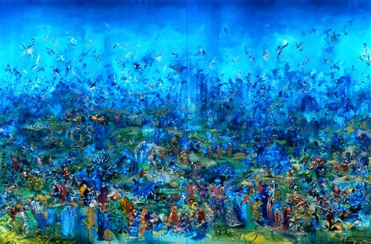Ali Banisadr - The-Gatekeepers - 2009 oil on linen - Ali Banisadr