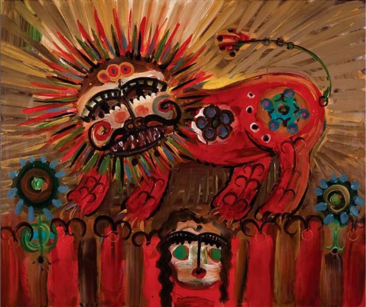 Javad Azimi - Lion's Boudoir - acrylic on canvas - 100 x 120 cm - 2009 - Starting Bid $1,200