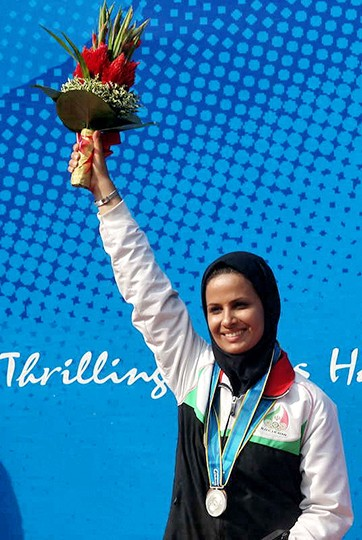 Elaheh Ahmadi - Shooting - 2 Silver and 1 Bronze