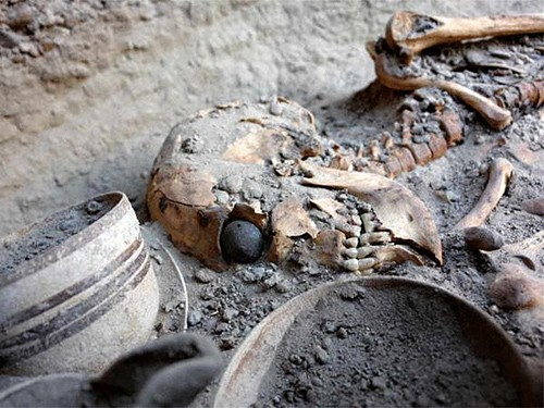 The world's oldest artificial eyeball was found on a female skeletal remains