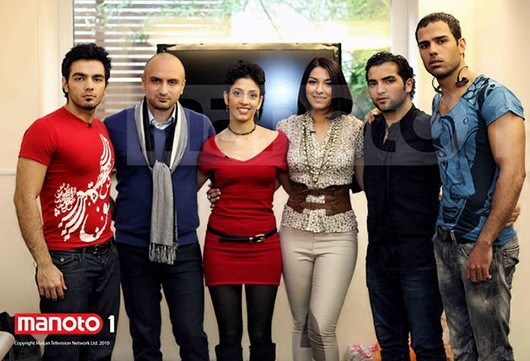 Six of lucky contestants: Kasra, Soroush, Forough, Sara, Arsalan, Amir