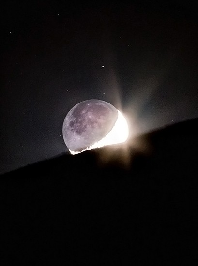 10- The Moonset and EarthShine - 727 views 44 favorites