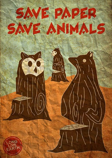 Save paper save animals - Nigel Tan - Singapore