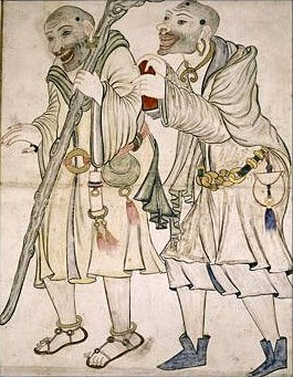 Drawing of two dervishes - Iran - 15th Century