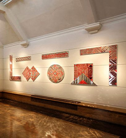 "MONIR FARMANFARMAIAN, ""INSTALLATION OF SEVEN ELEMENTS"""