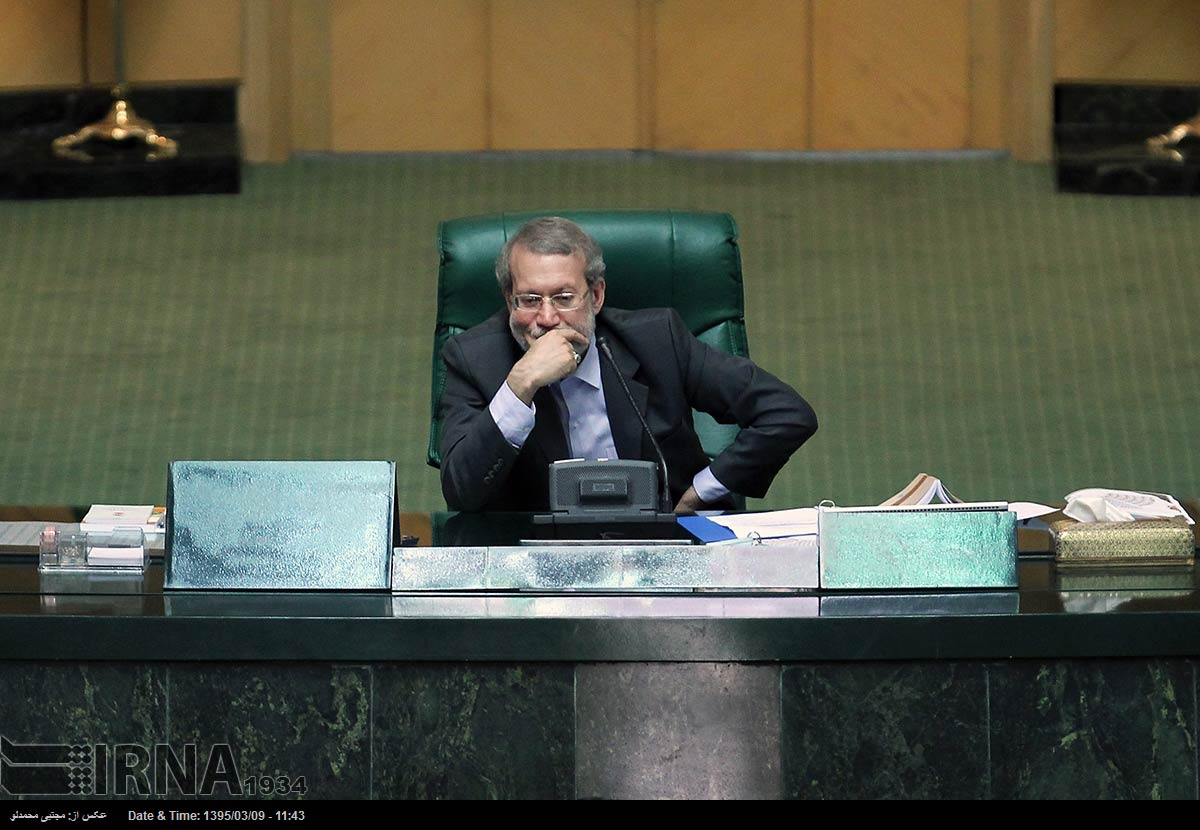 Iran Re-elects Conservative Parliament Leader